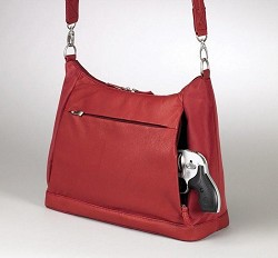 Gun Tote'n Mamas GTM-90 Concealed Carry Large Hobo Sac Red
