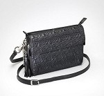Gun Tote'n Mamas GTM-10/BK Embroidered Shoulder Clutch Black